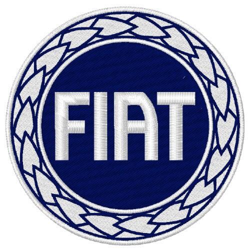FIAT TRUCK AUTO RACING RALLY FAN AUFNÄHER PATCH D=8cm
