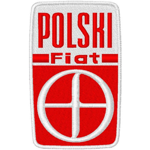 POLSKI FIAT AUTO RACING RALLY FAN AUFNÄHER PATCH 5x8cm