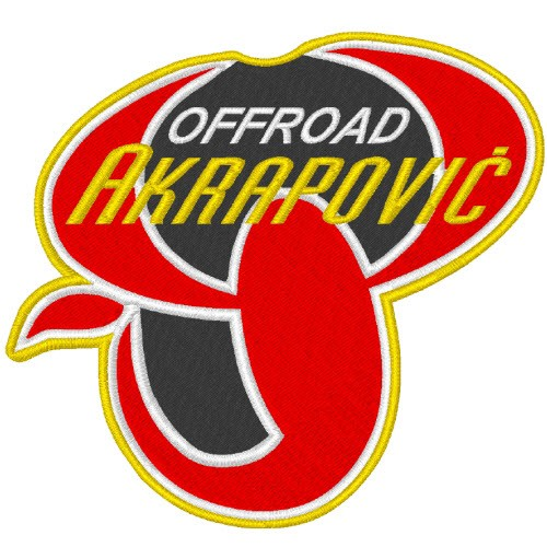 AKRAPOVIC BIKER RACING RALLY FAN AUFNÄHER PATCH 8x7cm