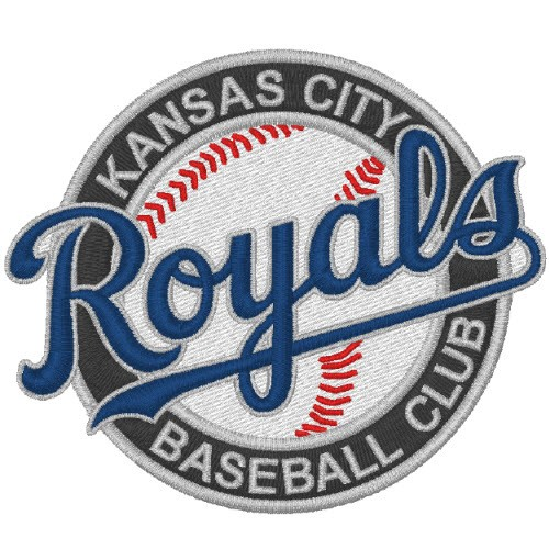 KANSAS CITY ROYALS BASEBALL FAN AUFNÄHER PATCH 8x6,7cm
