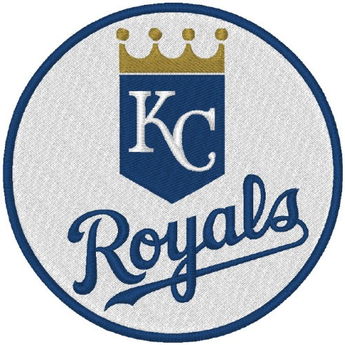KANSAS CITY ROYALS BASEBALL FAN AUFNÄHER PATCH D=8cm