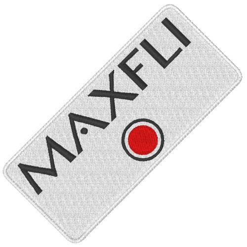 MAXFLI RED GOLF SPORT APLIKATION AUFNÄHER PATCH 8x4cm