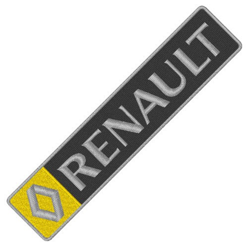 RENAULT CAR AUTO RALLY AUFNÄHER PATCH APLIKATION 18x4cm