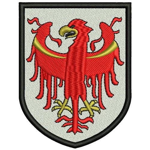 AUFNÄHER PATCH WAPPEN STADTWAPPEN Südtirol 6x8cm