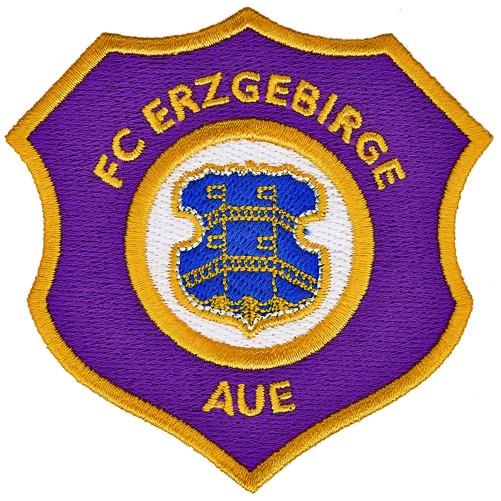 Fußball Aufnäher FC Erzgebirge Aue 8x8cm