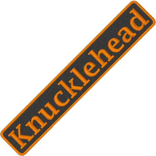 BIKER AUFNÄHER PATCH KNUCKLEHEAD 10x1,8cm