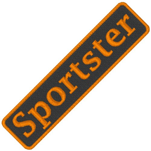 BIKER AUFNÄHER PATCH SPORTSTER 7,5x1,8cm