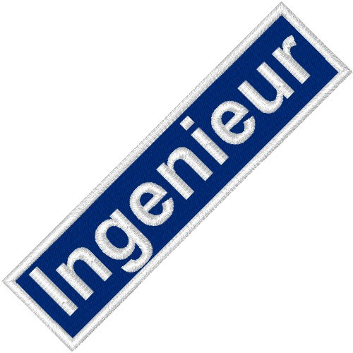 BUSINESS PATCH AUFNÄHER INGENIEUR blue/white 9x2cm