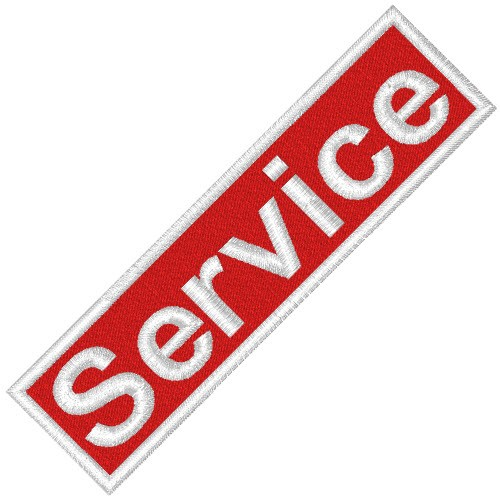 BUSINESS PATCH AUFNÄHER SERVICE red/white 8x2cm