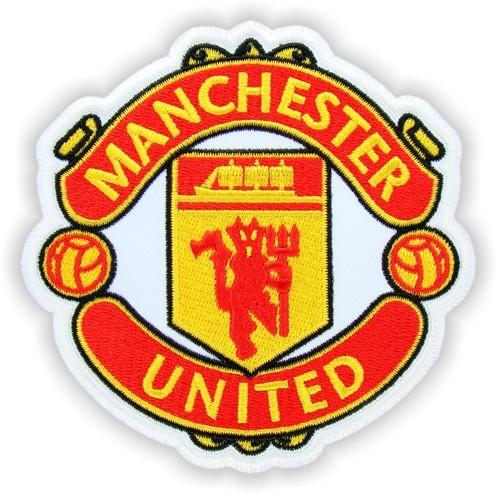 Fußball Aufnäher Manchester United auf weiss 10x10cm