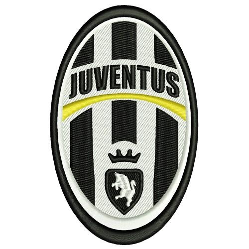 Fußball Aufnäher Juventus Turin 6x10cm