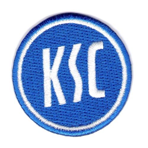 Fussball AUFNÄHER PATCH Fußball KSC Karlsruher SC D=5cm