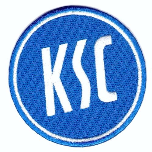 Fußball Aufnäher KSC Karlsruher SC D=8cm