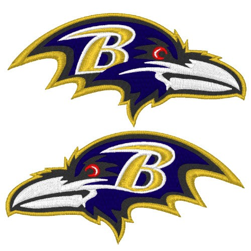 BALTIMORE RAVENS NFL DOUBLEPACK FOOTBALL PATCH 10x5cm