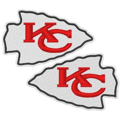 KANSAS CITY CHIEFS NFL DOUBLEPACK FOOTBALL PATCH 8x5cm