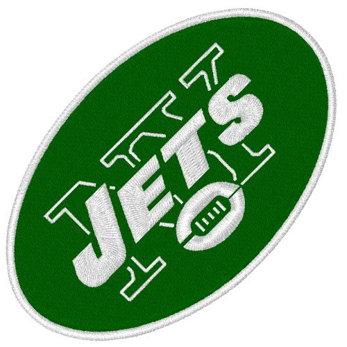NEW YORK JETS NFL FOOTBALL PATCH 9x6cm