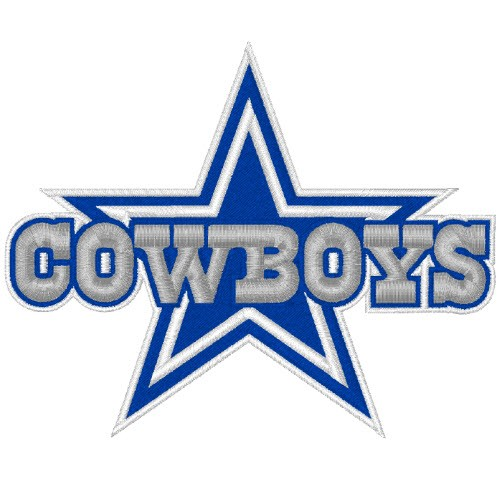 DALLAS COWBOYS NFL FOOTBALL PATCH 10x8cm