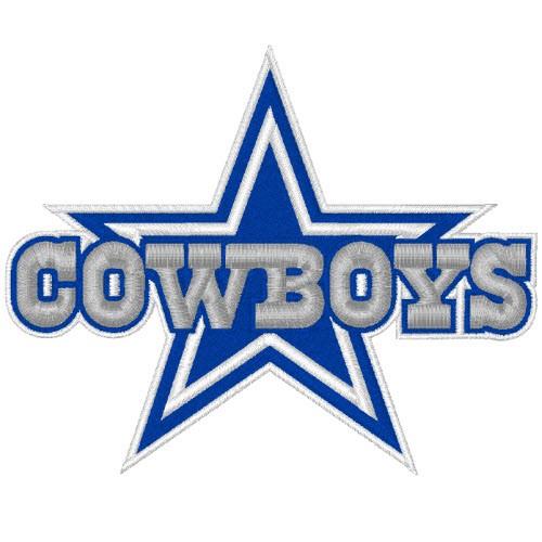DALLAS COWBOYS NFL FOOTBALL PATCH 10x8cm
