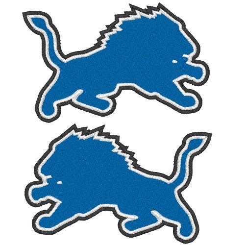 DETROIT LIONS NFL DOUBLEPACK FOOTBALL PATCH 9x6cm