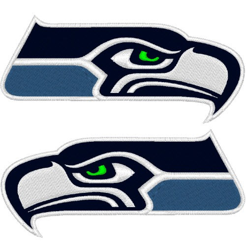 SEATTLE SEAHAWKS NFL FOOTBALL PATCH 10x5cm