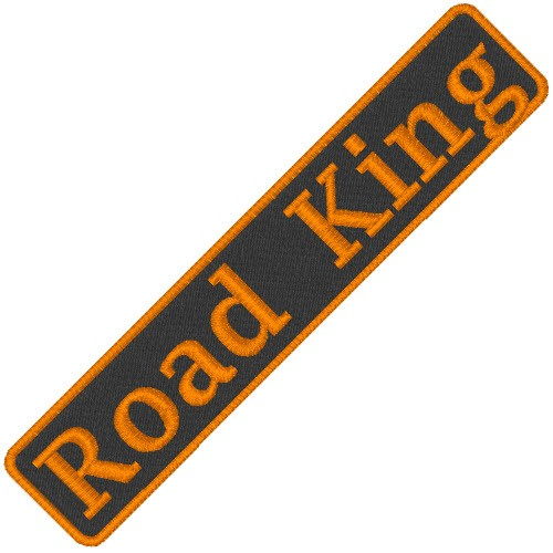 BIKER AUFNÄHER PATCH ROAD KING 9x1,8cm