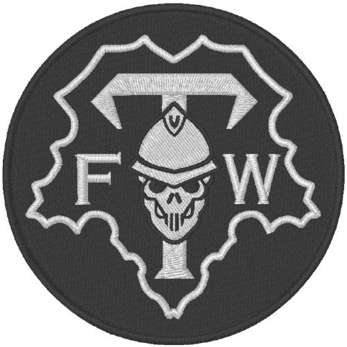BIKER AUFNÄHER PATCH FUCK THE WORLD D=8cm