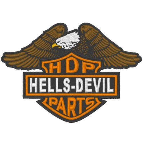 Customer PATCH HDP Hells Devil 12x8,5cm