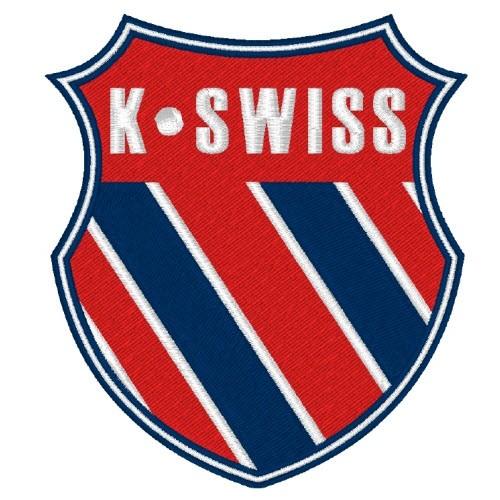 SPORT SPONSOREN AUFNÄHER PATCH WAPPEN K-SWISS 8x9cm