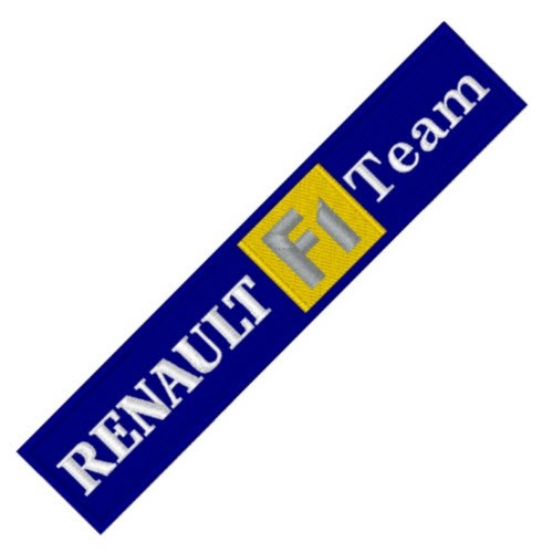 RALLY RACING AUFNÄHER PATCH RENAULT F1 14x3cm