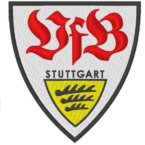 Fußball Aufnäher VFB STUTTGART 8x8,6cm
