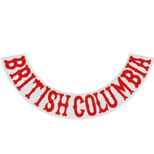 Rücken Aufnäher Back Patch BRITISH COLUMBIA 50x22cm