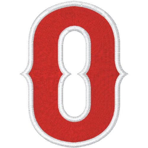 Zahl Aufnäher Patch Number Nummer 0 100% gestickt,H=7cm