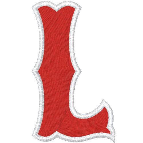 Schrift Aufnäher Buchstabe Patch L 100% gestickt,H=7cm