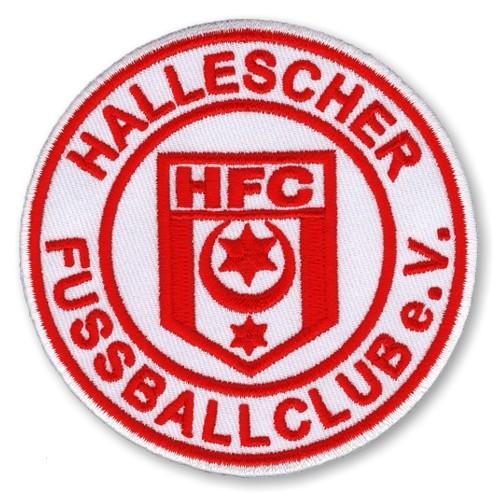 Hallescher FC AUFNÄHER Fußball FUSSBALL PATCH D=8cm