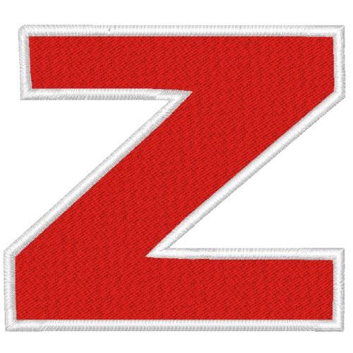 Schrift Aufnäher Buchstabe Patch Z 100% gestickt,H=7cm