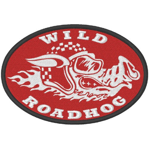 AUFNÄHER PATCH WILD ROADHOG 10x7cm
