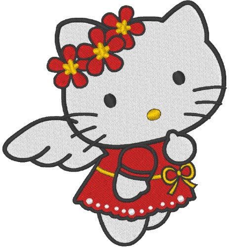 AUFNÄHER PATCH HELLO KITTY 9x10cm