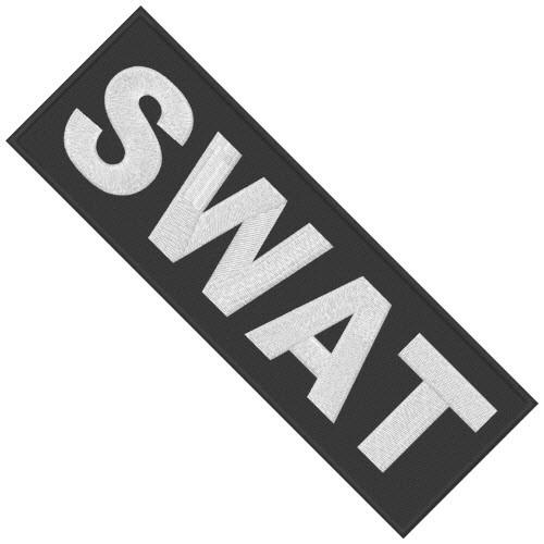 großer SWAT Aufnäher Spezialeinheit 20x7cm