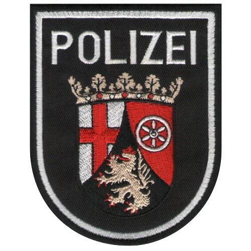 Aufnäher POLIZEI für Uniform Rheinland Pfalz 8x10cm