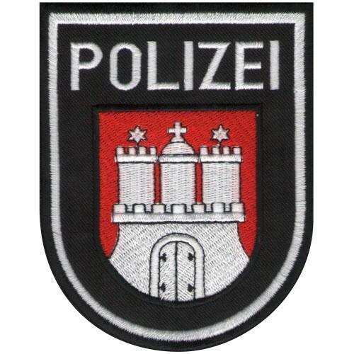 Aufnäher POLIZEI für Uniform Hamburg 8x10cm