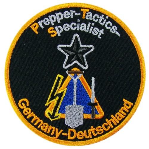 Prepper-Tactics-Specialist Aufnähen Patch D=8cm gestickt