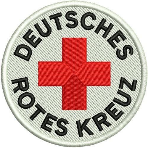 Rettungsdienst Aufnäher DRK D=8cm