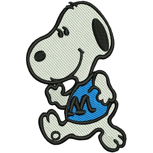 PATCH COMIC SNOOPY 5,3x8cm 100% gestickt