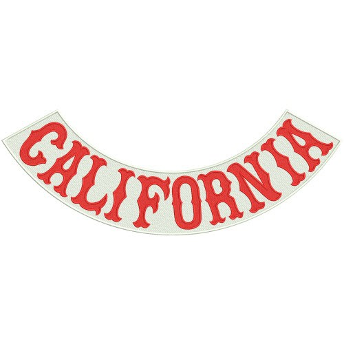Rücken Aufnäher Back Patch Biker CALIFORNIA 43x16cm