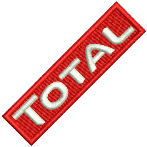 Aufnäher Patch TOTAL Oil Racing 10x2,5cm