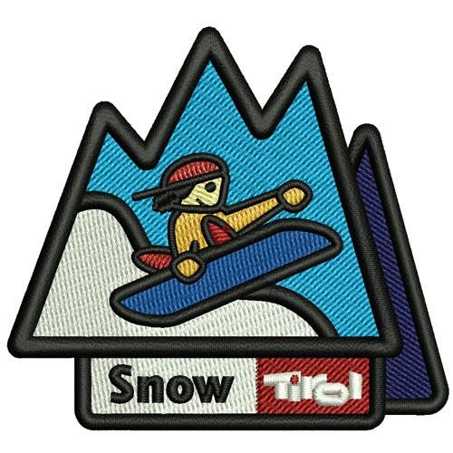 AUFNÄHER PATCH SNOW TIROL 7,5x7cm
