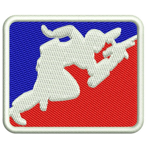 AUFNÄHER PATCH PAINTBALL FAN LOGO 6x5cm, 100%gest.