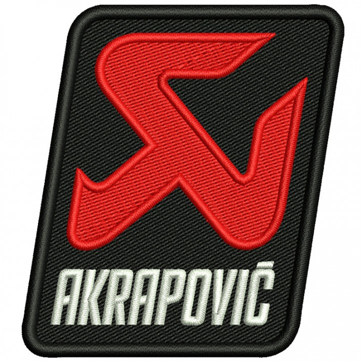 AKRAPOVIC BIKER RACING RALLY FAN AUFNÄHER PATCH 7,5x8cm
