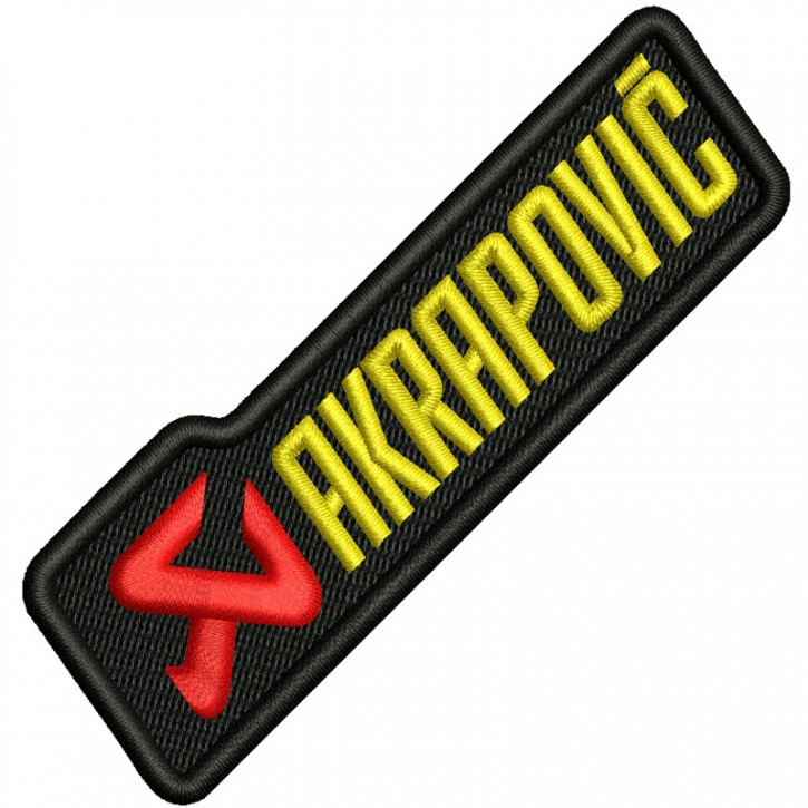 AKRAPOVIC BIKER RACING RALLY FAN AUFNÄHER PATCH 10x3cm