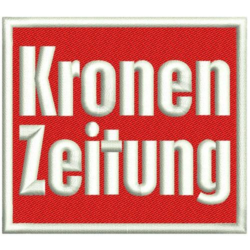 SKI Sponsoren AUFNÄHER PATCH KRONEN ZEITUNG 8x7cm